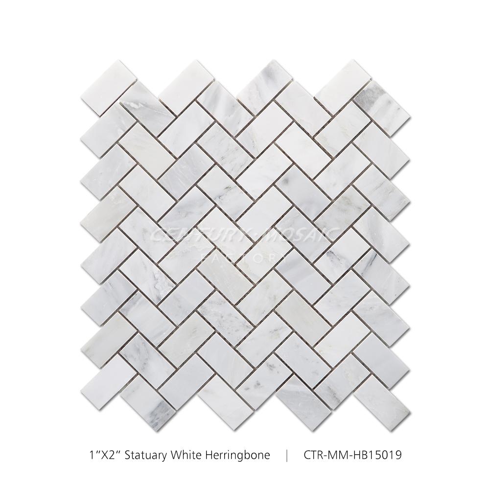 30 60 oriental blanc marbre a chevrons mosaique cuisine carrelage mural buy marbre oriental mosaique a chevrons mur de salle de bain et dosseret