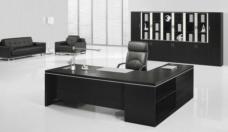 black office furniture set wooden executive desk 7 9ft foh ba24 b buy executive desk executive wooden office desk black office desk product on