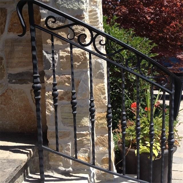 Exterior Handrail Lowes Wrought Iron Railing Stair Railing Buy   Rod Iron Railing For Steps   Artistic   Aluminum   Front Porch   Custom   Corner