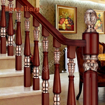 India Designs Wooden Staircase Antique Brass Baluster Aluminum   Wooden Railing Designs For Stairs   Handrail   Different Kind Wood   Combination Wood   Interior   Indoor