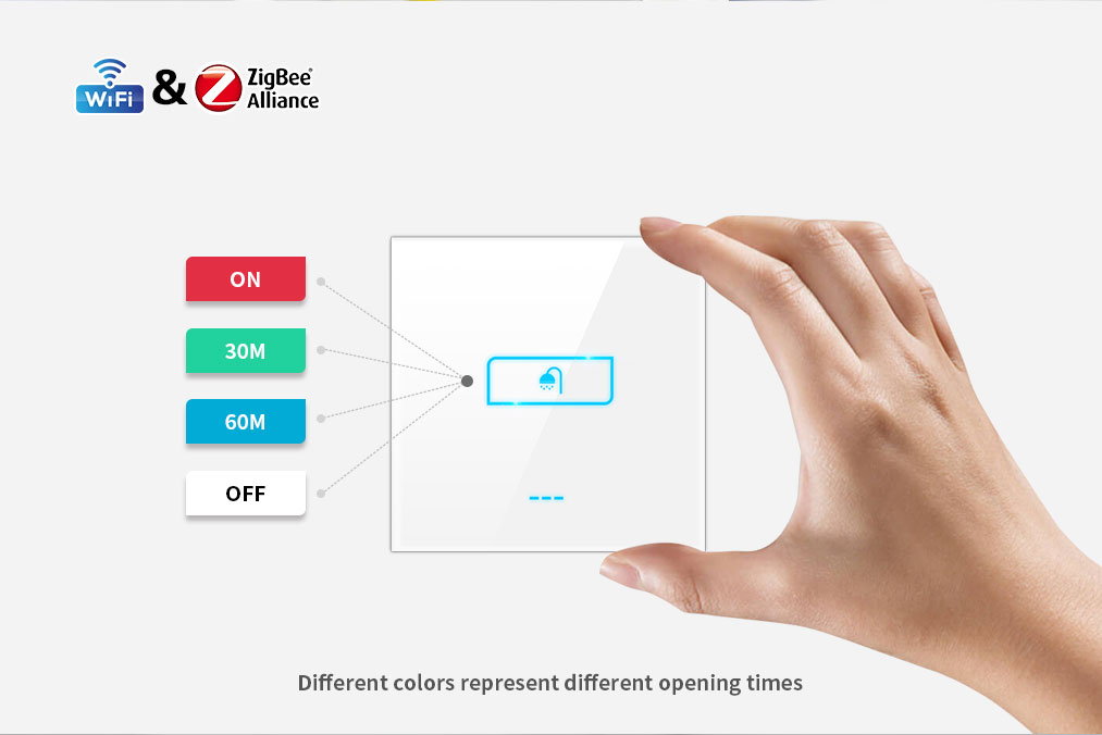 Israel 8 group timer boiler switch wifi Lanbon smart home zigbee switch support google home