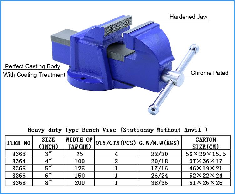 Heavy Duty Stationary Base Bench Vise Without Anvil Buy