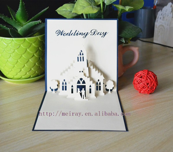 Unique Wedding Stationery Pop Up Invitations Navy Gold Pink