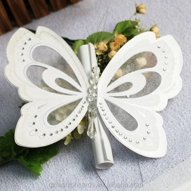Wedding Invitation Card gangcraftnet – Butterfly Wedding Invitation Cards