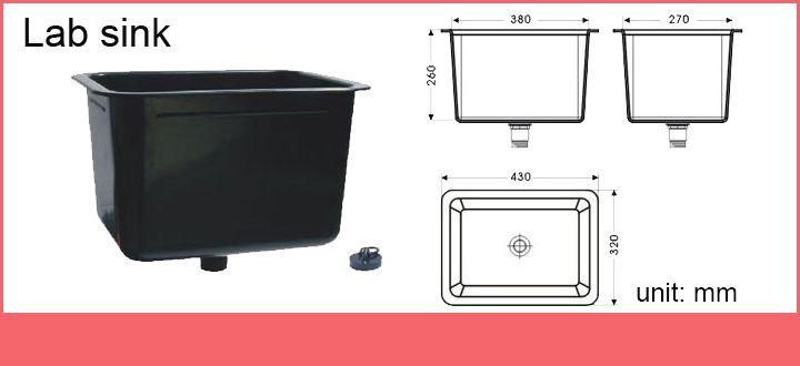 Standard Size Laboratory Furniture Water Sink Lab Pp Sink