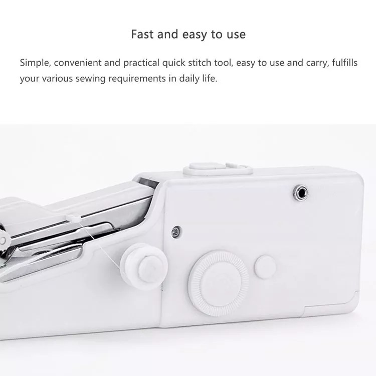 Handheld Electric Sewing Machine Mini Portable Handy Stitch Home Sewing Quick Table Hand-Held Single Stitch