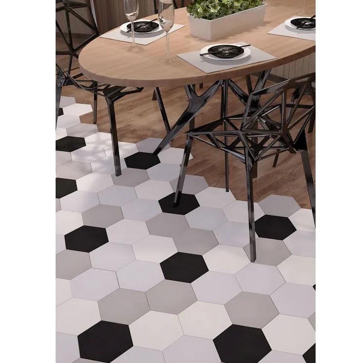 non slip white hexagonal industrial black and white hexagon floor tile buy industrial black and white hexagon floor tile wear resistant nordic