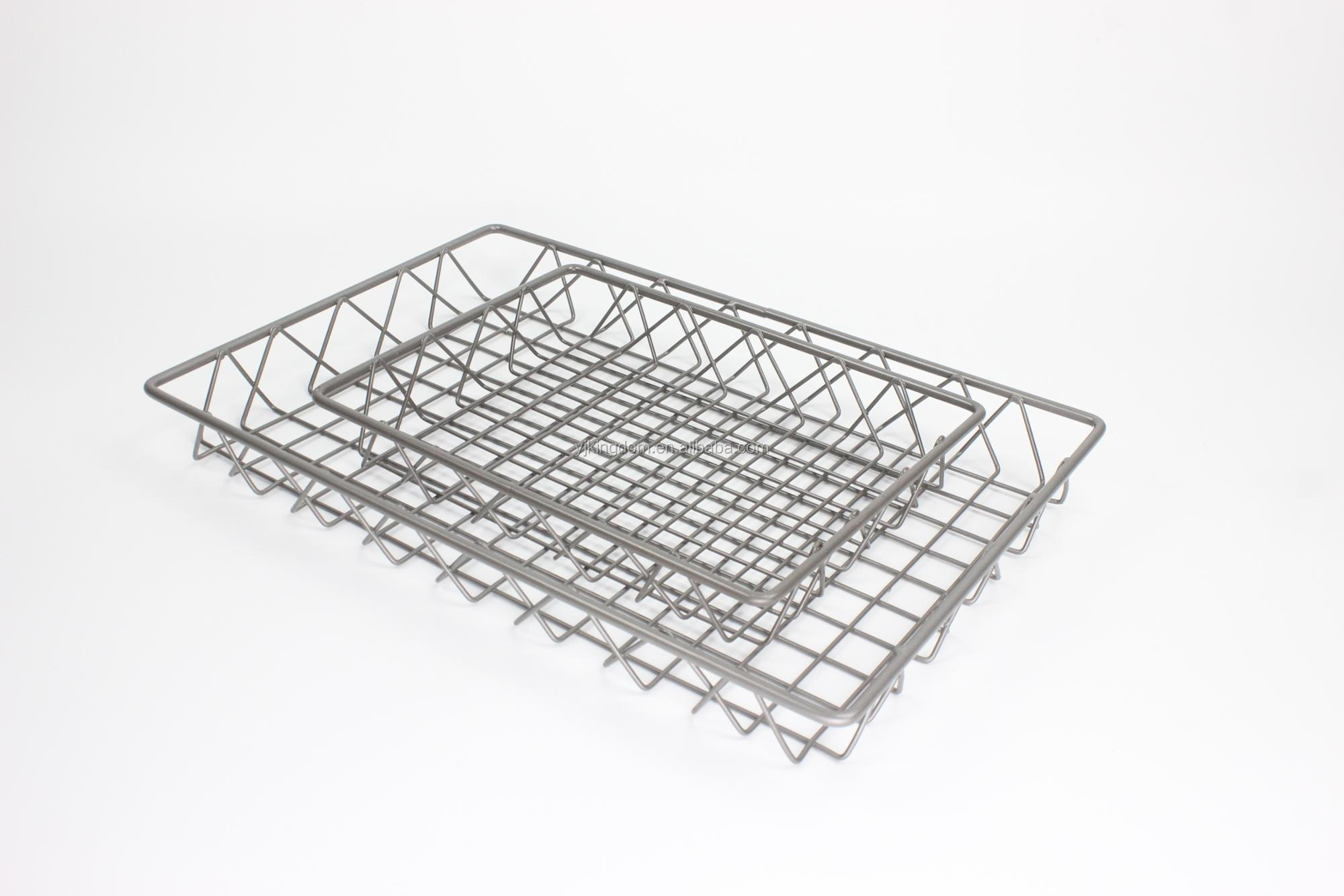 550 64b Home Small Size Desk Metal Wire Mesh Basket For