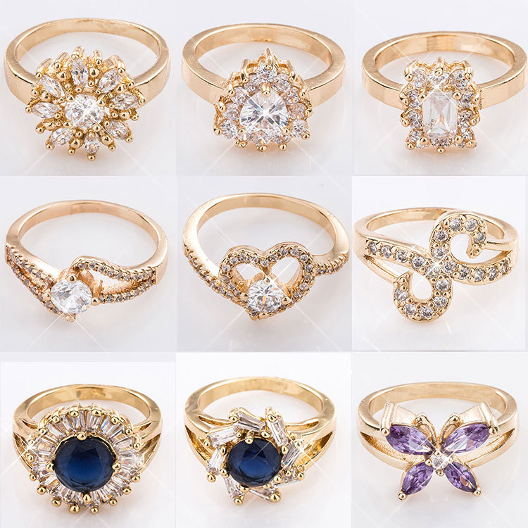Dubai Simple Latest Gold Ring Designs For Girl And Woman