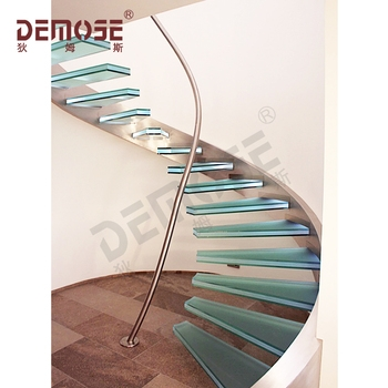Glass Steps Stainless Steel Railing Spiral Stairs Buy Glass | Steel Stairs For Sale | Spiral | Indoor | Interior | Cantilever | Straight