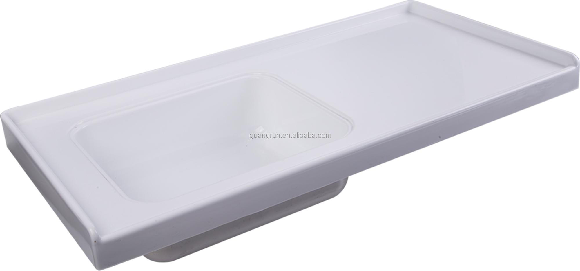 new product rv abs plastic sink with board gr y023a buy caravan plastic sink motorhome trough camping trailer sink product on alibaba com