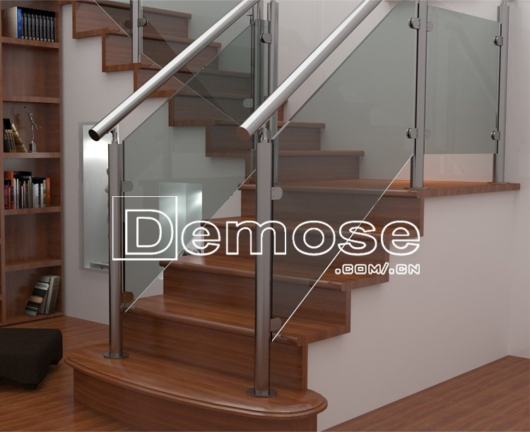 Strong Tempered Glass Stair Railing Stainless Steel Pipe Buy   Tempered Glass Stair Railing   Hand Rail   Glass Design   Toughened Glass   Staircase   Round Staircase