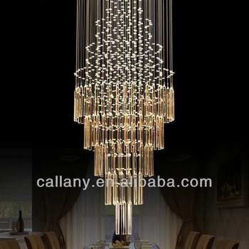 Crystal Large Modern Hanging Pendant Commercial Chandeliers