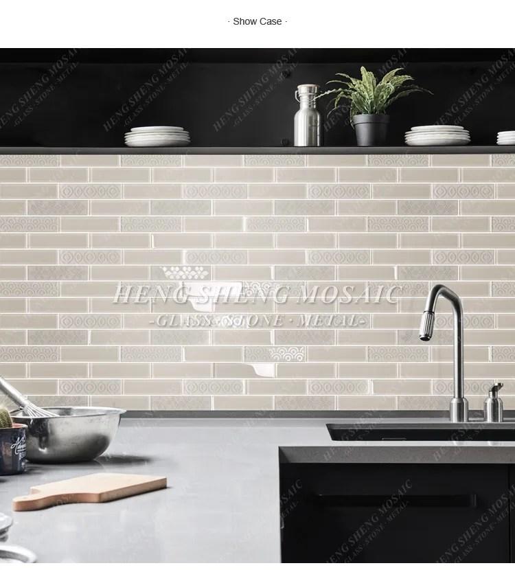 beige sand blast kitchen backsplash mosaic glass subway tile buy glass subway tile subway tile subway tile backsplash product on alibaba com