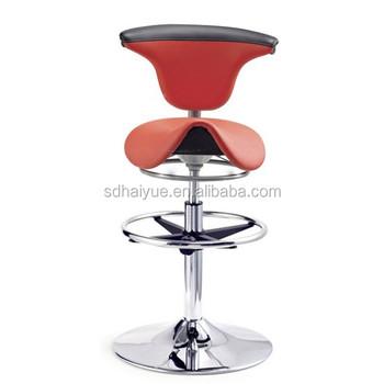 ergonomique rouge en cuir selle selles en cuir selle tabouret de bar selle tabouret