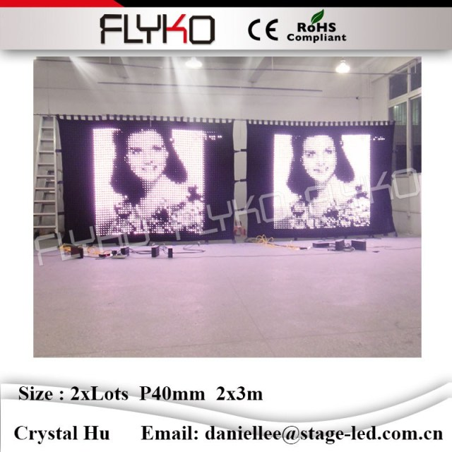 Led Video Curtain P40mm 2x6m Play Full Sexy Movies