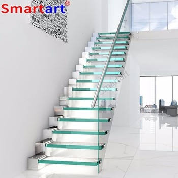 Stainless Steel Railings Staircsae Glass Stair Manufacture Buy   Stainless Steel Staircase Railing With Glass   Infill   Custom Glass   Indoor   Panel   Modern