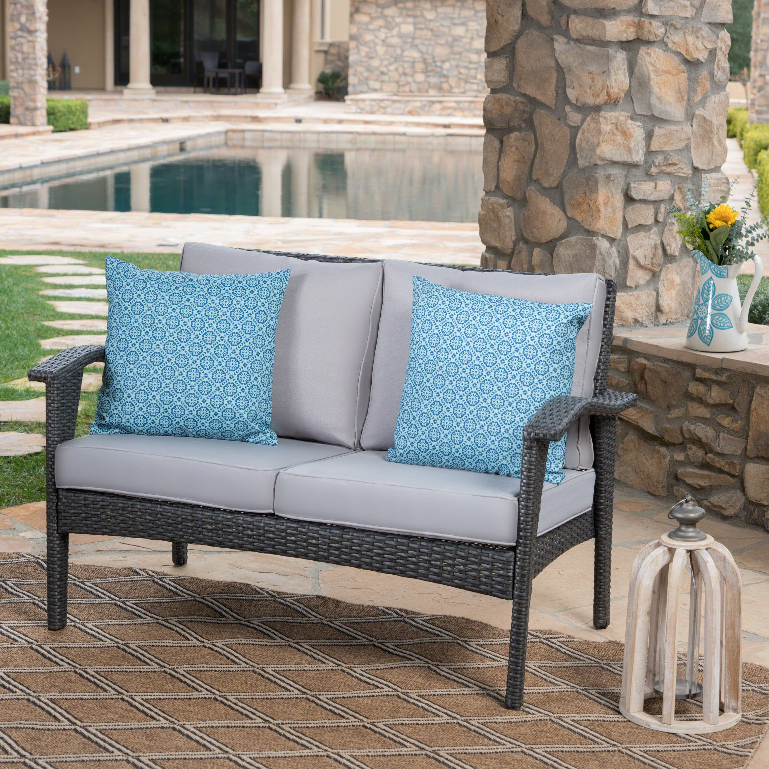 outdoor loveseat lowes lohan patio
