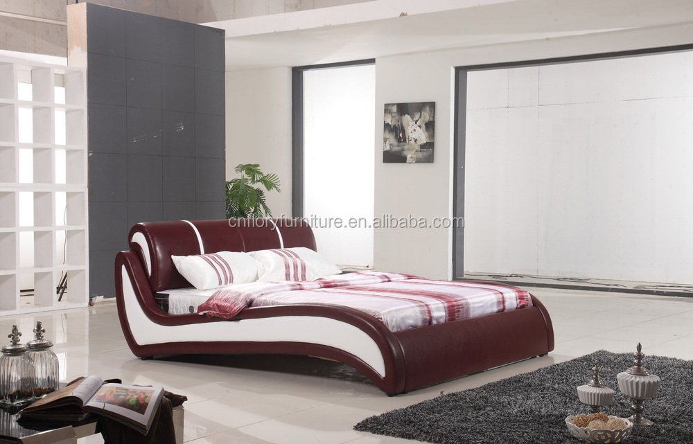 China Modern Furniture Latest Double Bed Designs Bl9068