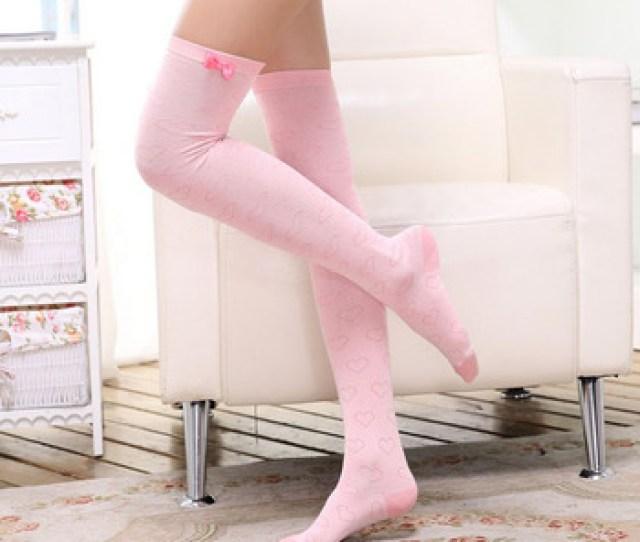 Sweet Girls Knee High Bow Socks Japanese Stockings