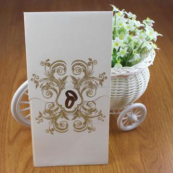 Formal Printable Blank Gold Powder Ethiopia Wedding Invitation Card