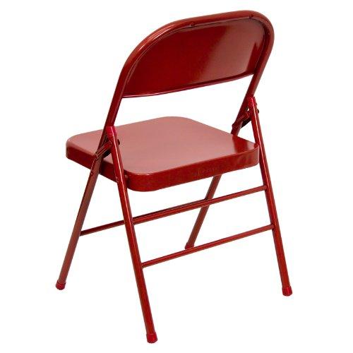 accueil furiture hercules serie triple embase et quad articule rouge chaise pliante