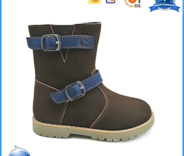 Fashionable Girls Winter Fur Boots Real Leather Orthopedic Shoes For Kids