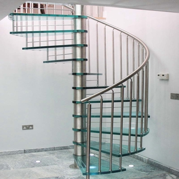 Indoor Small Diameter Metal Glass Spiral Staircase For Sale Buy | Iron Spiral Staircase For Sale | Grey Exterior | Wrought Iron | Ornate | Helical Staircase | Architectural Salvage