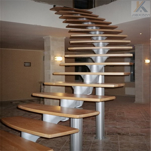 Spiral Staircase Staircases With Single Carbon Steel Beam Design | Spiral Staircase Wood Treads | Arke | Design | Checker Plate | Platform Stair | Aluminum