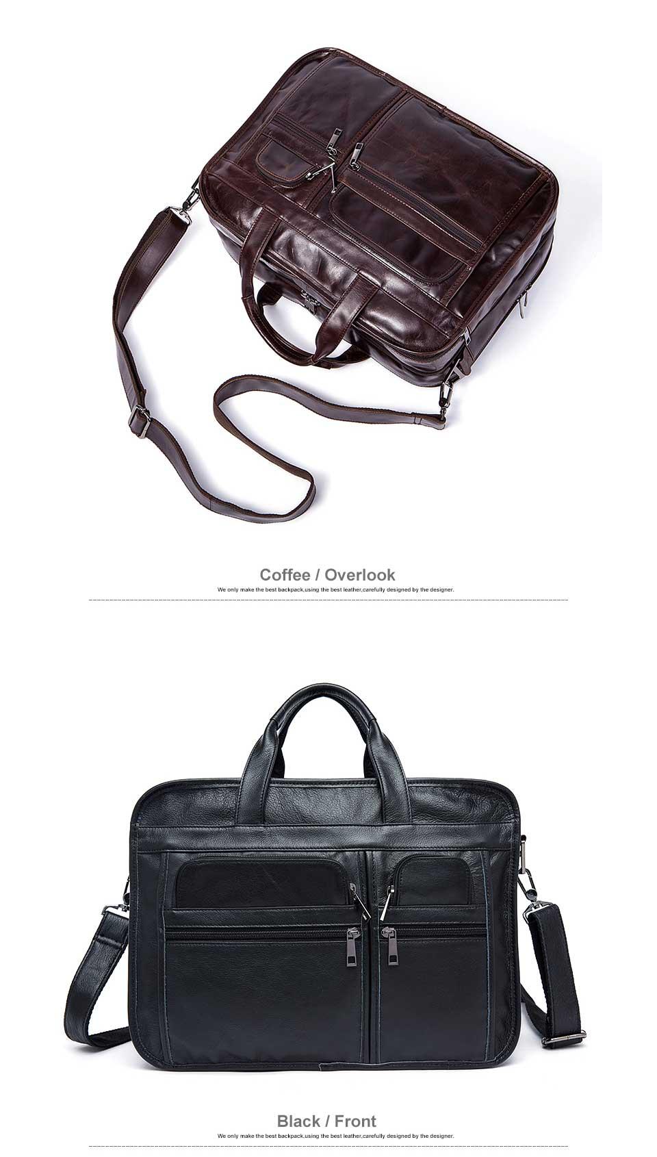 HTB1dECPg4rI8KJjy0Fpq6z5hVXaE WESTAL men's genuine leather bag for men's briefcase office bags for men leather laptop bag document business briefcase handbag