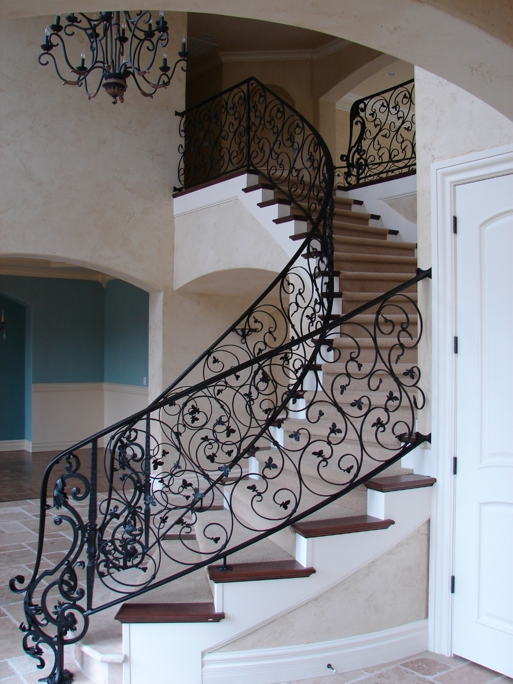 Stair Fittings Wrought Iron Railing Spindles Stair | Stair Banisters For Sale