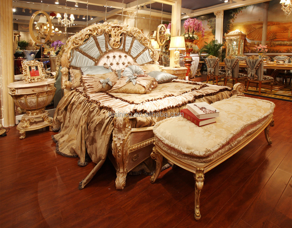 Think you can't afford a family vacation? Fabulous French Rococo Style Bedroom Furniture Set/ Royal ...