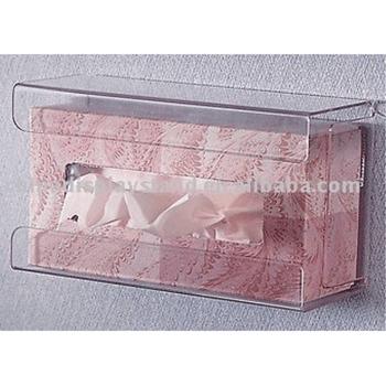Clear Acrylic Tissue Box Holder,Handy Wall-mounted Tissue ... on Wall Mounted Tissue Box Holder id=26797