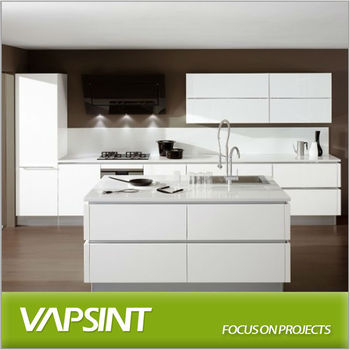 White Mat Lacquer Integrated Kitchen Cabinet Buy Lacquer