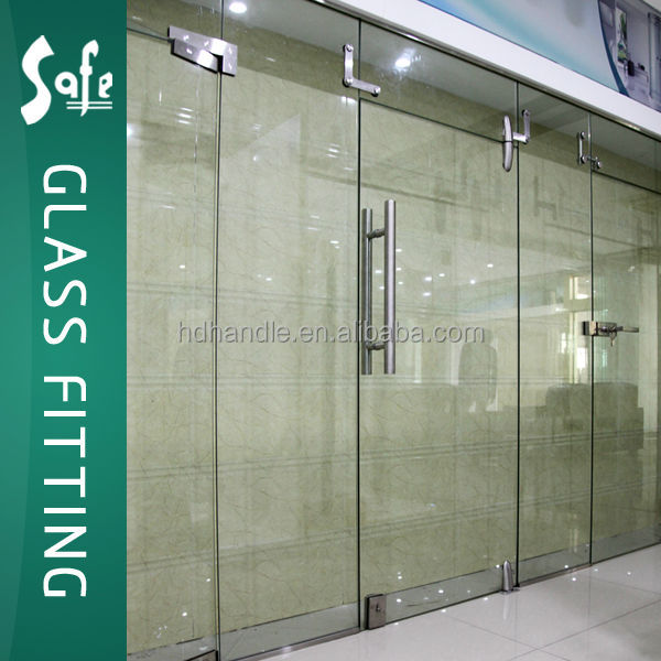 Sus304 Interior Frameless Double Or Single Open Swing