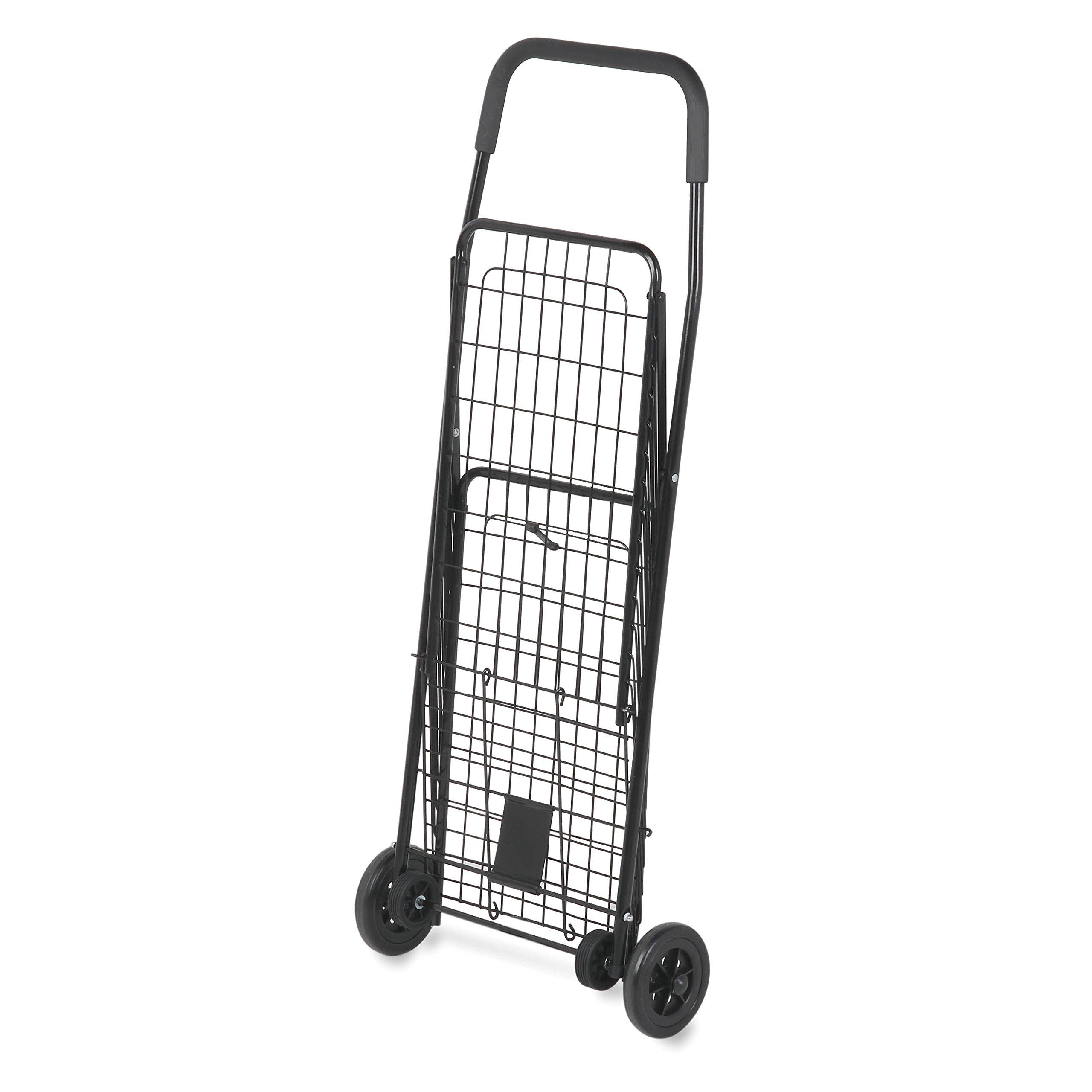 Buy 4 Wheel Super Deluxe Swiveler Shopping Cart Black In