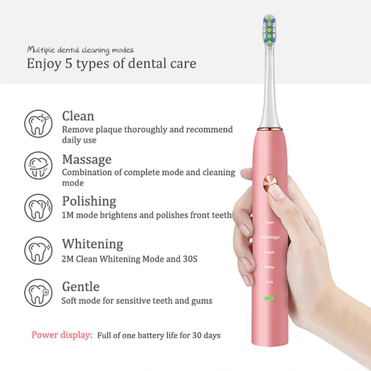 OEM Private Label 15 Model Rechargeable Automatic Sonic Electric Toothbrush