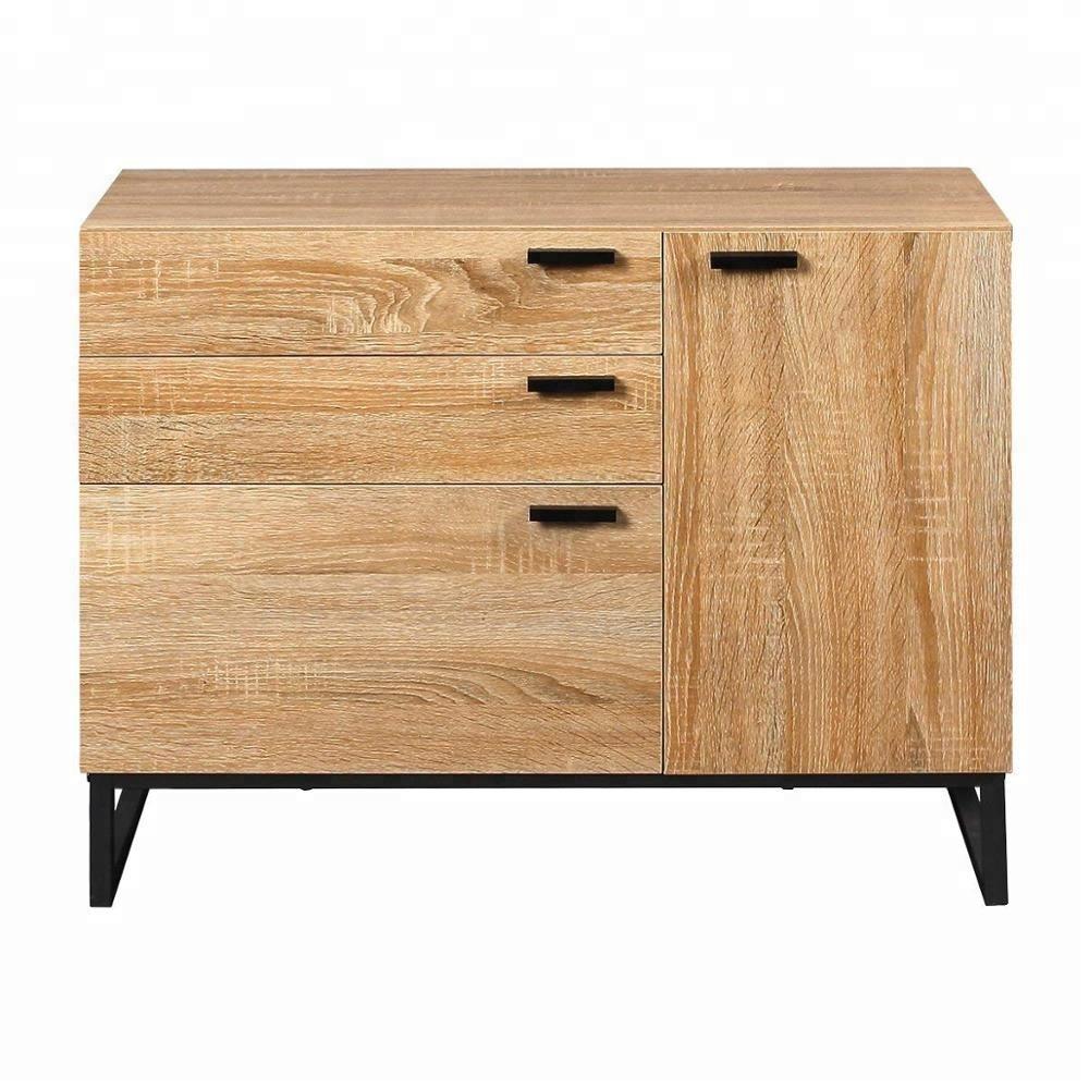 commode en bois massif moderne a trois tiroirs classeur de rangement ouvert et collection adapte pour chambre a coucher meuble de bureau et maison