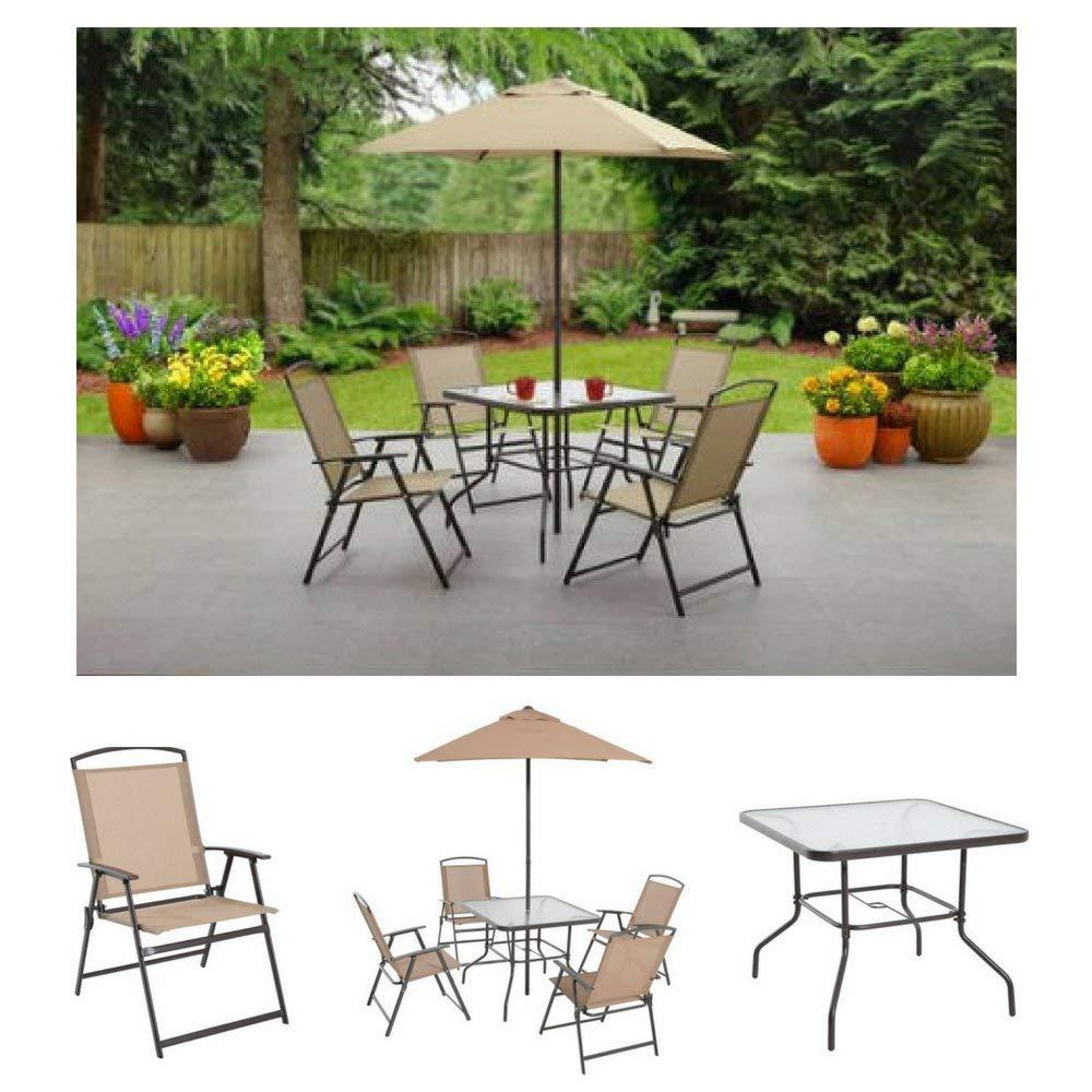 cheap patio dining set with umbrella