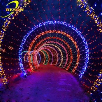 Wedding Party Decoration Led Flower Arch Motif Light For