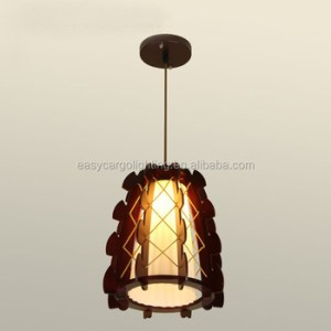 Top Selling Decorative Hanging Pendant Light Wood Shade E27 Socket     Top selling Decorative Hanging Pendant Light Wood Shade E27 Socket wood  pendant lamp 0595
