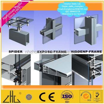 profil de mur rideau en aluminium fabricant d usine mur rideau