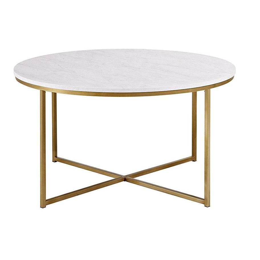 gold metal x base round marble top coffee tables buy metal coffee table wooden mdf white round marble metal coffee table china home furniture good living room trendy nordic modern gold metal x base leg