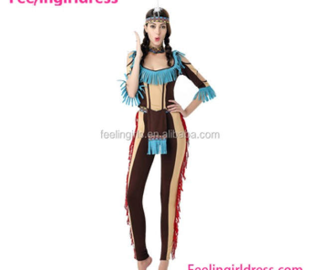 Halloween Sexy Indians Costume Tribe Cheap Bodysuit For Women