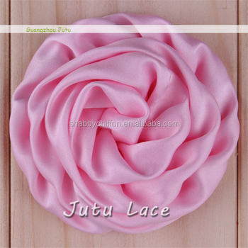 Decorative Fabric Flowers For Clothing  satin Rolled Flower For     decorative fabric flowers for clothing  Satin Rolled Flower for Decoration    silk fabric rose flower