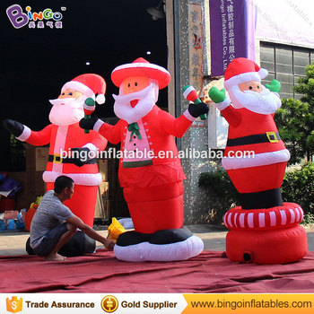 Hot Outdoor 2m High Inflatable Christmas Carousel For Decoration