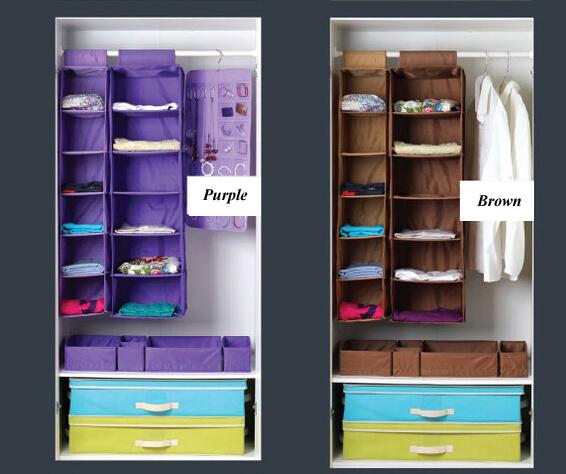 organisateur de vetements en tissu non tisse livraison gratuite armoire privee organisateur de placard suspendu a 6 etageres pour la maison buy