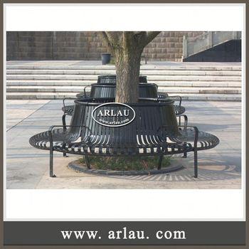 steel roundabout garden bench Arlau Steel Round Park Bench,Antique Metal Park Benches