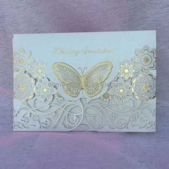 Ivory Fancy Erfly Muslim Wedding Cards Invitation Card Product On