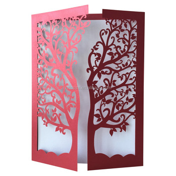 2018 New Por Laser Cut Wedding Invitations Tree Invitation Card Qj 26 Many Kinds Of Cards For Your